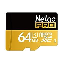 Netac P500 64GB UHS-I U3 Micro SD Card with Adapter