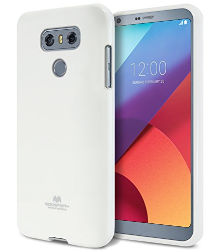 LG G6 Case, [Thin Slim] GOOSPERY [Flexible] Color Pearl Jelly Rubber TPU Case [Lightweight] Bumper Cover [Impact Resistant] for LG G6 (White) G6-JEL-WHT
