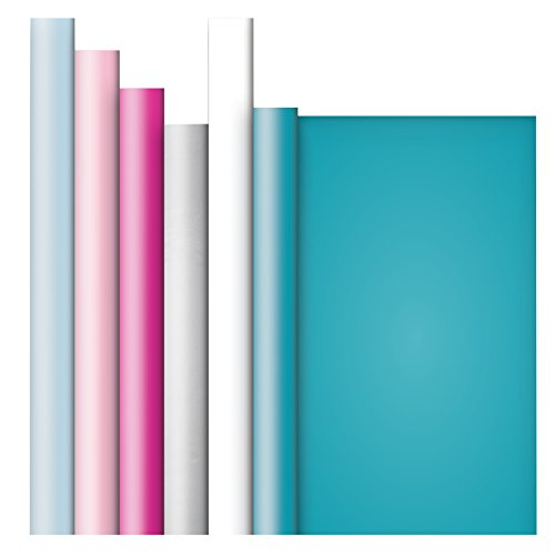 Jillson Roberts All-Occasion Recycled Gift Wrap in Assorted Solid Colors, 6 Roll-Count, Pastels (Solid Color Gift Wrap)