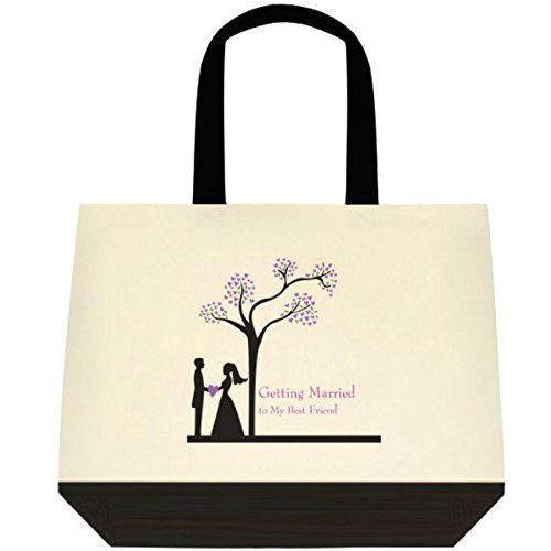 Getting Married to My Best Friend Wedding Bride Tote Bag - PURPLE DESIGN by Heartfelt Hospitality