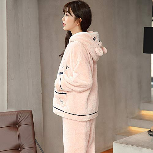 Flannel Winter And 57kg layer Three L158 50kg 162cm Thick Coral Quilted 164cm Cute Autumn Fleece Women's Pajamas Home 47 Service Suit M150 Warm Pajamasx 30 wS8txqIOS
