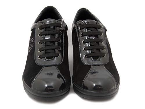 4 E Lucida 206520 Plantare Zeppa Cm In Nero Camoscio Comfort Imac Estraibile Pelle Sneaker 4WqxSzSgn