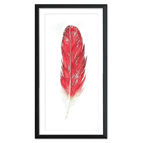 (Cardinal Feather Art. West Virginia State Bird. Fine Art Paper, Laminated, or Framed. Multiple Sizes Available for Home, Office, or)