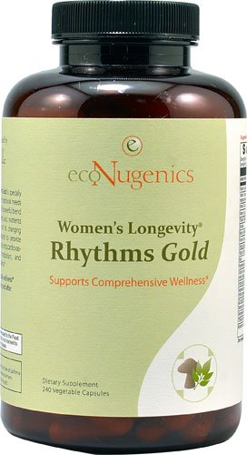 EcoNugenics Women's Longevity® Rhythms Gold -- 240 Vegetable Capsules - 3PC by EcoNugenics