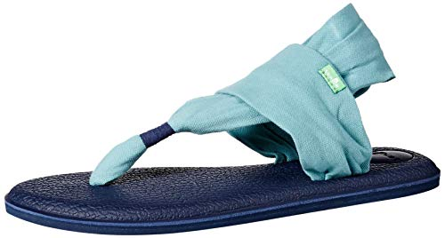 (Sanuk Women's Yoga Sling 2 Print Vintage Sandal, Mineral Blue, 6)