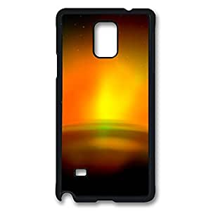 VUTTOO Rugged Samsung Galaxy Note 4 Case, Aurora Sunrise Polycarbonate Plastic Case Back Cover for Samsung Galaxy Note 4 N9100 PC Black