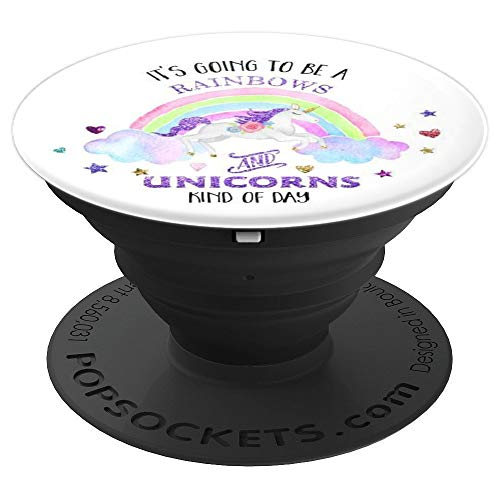 Funny Rainbows and Unicorns Magical Cute Unicorn Grip - PopSockets Grip and Stand for Phones and Tablets