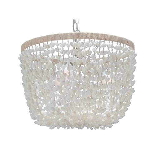 Shell chandelier amazon kouboo inverted pendant lamp bubble seashell white aloadofball Gallery