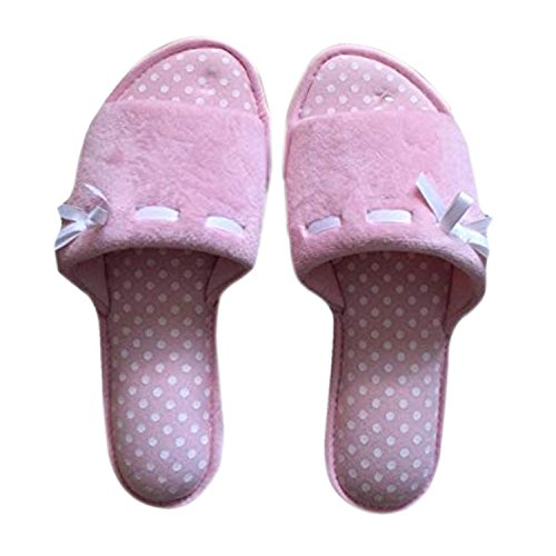 Pink On Slip Dearfoams Foam Polka Womens Memory Slippers Dot Swwxqf1A7