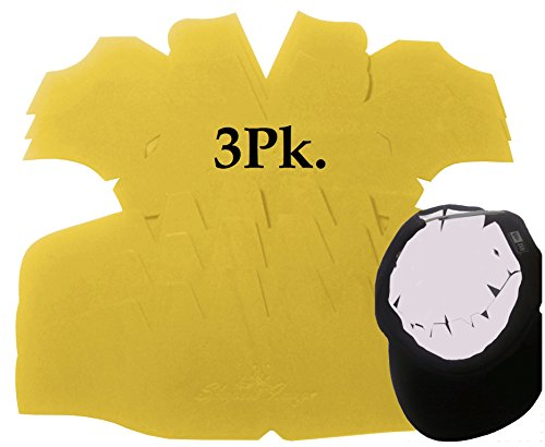 3Pk. Beige Baseball Cap Crown Inserts Panel Hat Shaper| Hat Liner| Snapback| Fitted Cap and Flex-Fit Inserts| Ball cap Form| Hat reducer| Hat stretcher| Hat Storage and Washing Aide. Caps One Size All