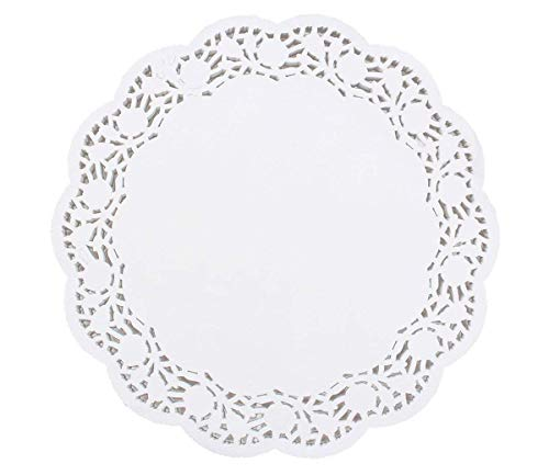 100 Pcs Round Lace Paper Doilies 14 Inch White Decorative Party, Cakes, Desserts, Ideal for WeddingsDisposable Doilies Tableware - Paper Inch Placemats 14