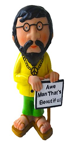 Hippies In The 70s (Funny Guy Mugs Garden Gnome Statue - Hippie Gnome - Indoor/Outdoor Garden Gnome Sculpture for Patio, Yard or Lawn)