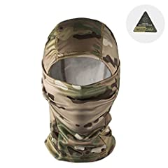 -About OneTigris Hood Wear-Comfortable Polyester Material: Exquisite Performance for Breathability & Craftmanship, lightweight and soft.Multiple Way for Wearing: To be a Versatile Balaclava, you can start out full faced and as the ...