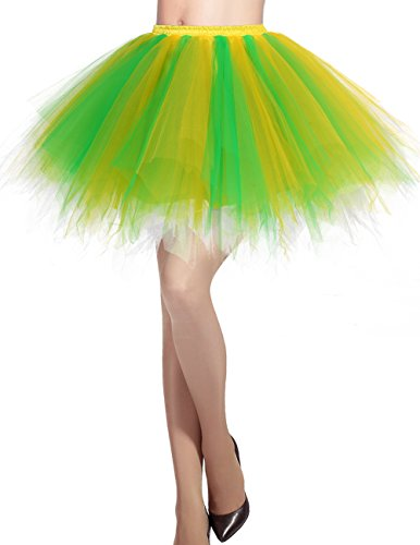 Tutu Court varies Jupe Couleurs Tulle Yellow Dresstells Ballet Green Jupon en PAI85qt4