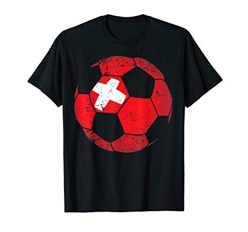 (Switzerland Soccer Ball Flag Jersey Shirt - Swiss Football)