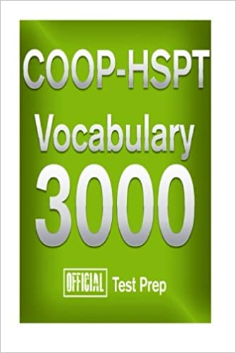 Amazon com: Official Test Prep COOP-HSPT Vocabulary 3000
