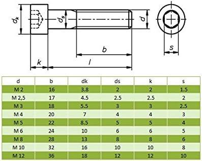 10 St/ück Zylinderschrauben M8 x 30 mit Innensechskant DIN 912 Edelstahl A2