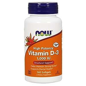 NOW Vitamin D-3 1,000 IU,360 Softgels