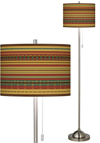 Southwest Desert Brushed Nickel Pull Chain Floor Lamp - Giclee - Lamp Nickel Giclee Floor