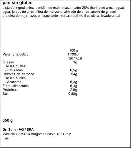 Dr. Schar Baguette Pan - Paquete de 2 x 175 gr - Total: 350 gr - [Pack de 3]