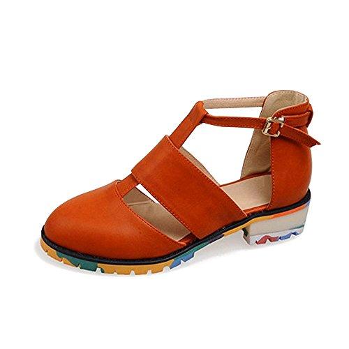 OCHENTA Zapatos Planos de Punta Cerrada para Mujer Amarillo