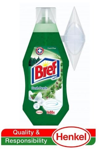 Bref by Henkel - Automatic Toilet Cleaning Gel (w/ Refillable Rim Basket) Pine Forest 360ml - 2 Count (2 x 1400 - Flat Overseas Shipping Rate