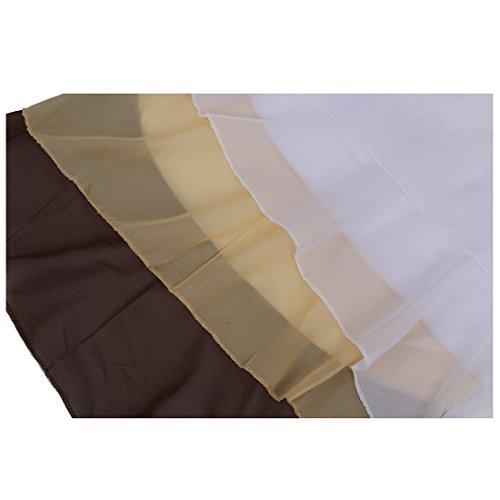 de 3XL las Marron Cascada Tirantes Camiseta La R gasa mujeres SODIAL Camisa Mangas Lindo La de de Blusa Sin de Volantes xqfHaR