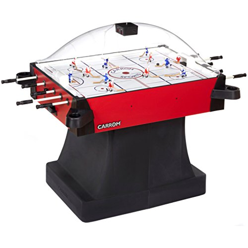 Carrom 425.01 Signature Stick Hockey Table with Pedestal (Red) Red Hockey Game Table