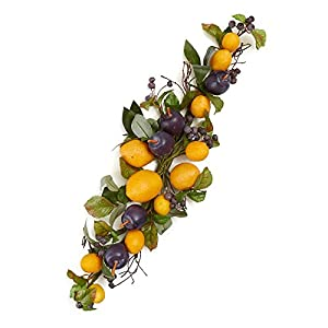 Factory Direct Craft Artificial Blueberry, Lemon and Plum Floral Swag | 22 Inches Long 10
