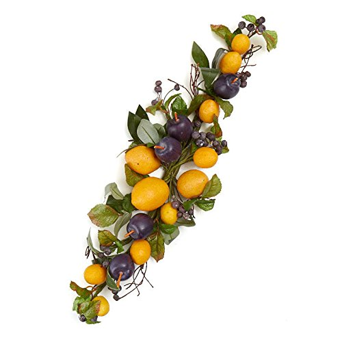 Citrus Floral Foam - Factory Direct Craft Artificial Blueberry, Lemon and Plum Floral Swag   22 Inches Long