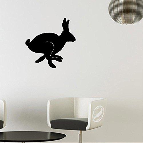 Jackrabbit Bunny Decal Sticker (matte black, 5 inch) (Matte Bunny)