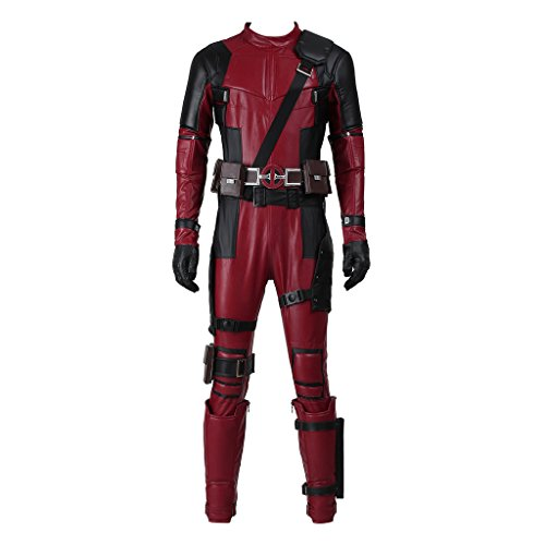 CosplayDiy Men's Costume Suit for Deluxe Deadpool Wade Wilson Cosplay XXL