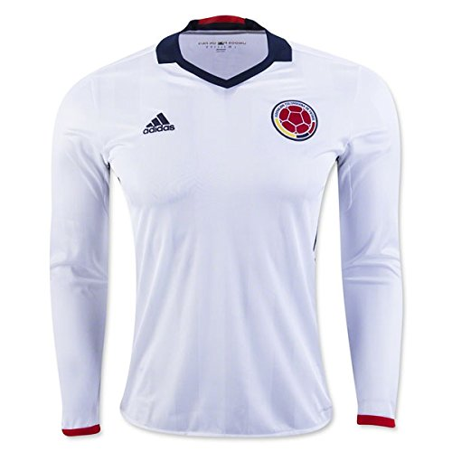 Adidas Colombia Home Soccer Jersey Copa America Centenario 2016 Long Sleeve White/navy,Small by adidas