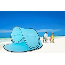 Instant Family Tent Automatic Pop Up Instant Portable Outdoors Beach Tent , Lightweight Portable Family Sun Shelter Cabana ,Provide UPF 50+ Sun Shelter