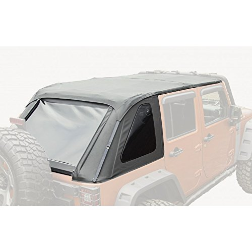 Rugged Ridge 13750.38 Black Diamond Bowless Top for Jeep Unlimited JK Wrangler (4-Door)