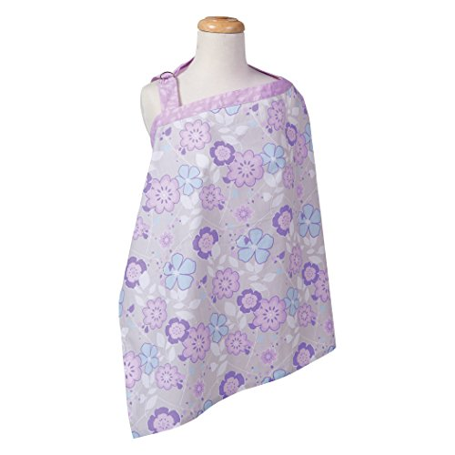 Trend Lab Grace Floral Nursing Cover, Purple, Blue, Gray and White ()