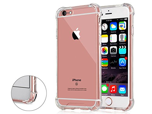 Iphone 6 6S Transparent Case With Reinforced Corners   Anti Discoloration   No Slip Grip   Clear