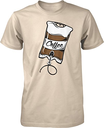 Coffee IV Bag, Caffeine, Expresso, Love Coffee, Cappuccino Men's T-shirt, NOFO Clothing Co. XXXL Putty