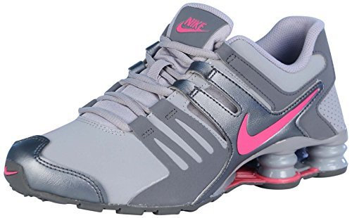 Nike Kids Shox Current (GS) Running Shoes-Wolf Grey/Hyper Pink-6 by NIKE