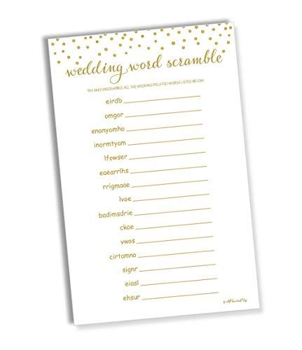 (Wedding Word Scramble - Gold Confetti (50-Sheets) (Large Sheet Size))