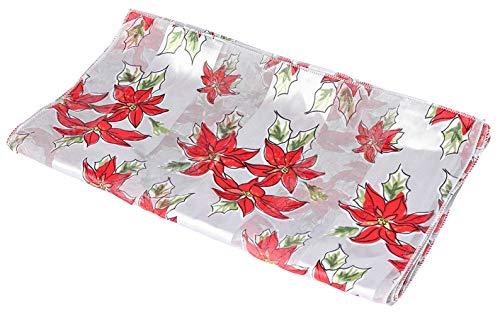 Christmas Scarf - Christmas Candycane, Poinsettia w/ Gift Box By Crown (Poinsettia -