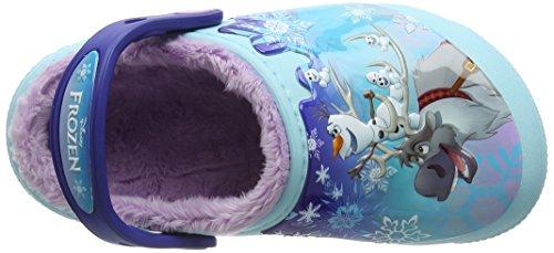 crocs Mädchen Fun Lab Lined Frozen Clog Blau (Ice Blue)