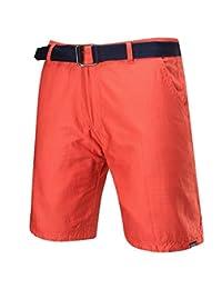 Cafuny Mens Casual Reversible Style Stripes Prints Cargo Shorts Beach Shorts
