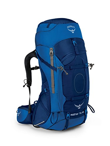 Osprey Packs Aether Ag 70 Backpacking Pack, Neptune Blue, Medium