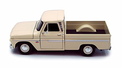 Motor Max 1966 Chevy C10 Pickup Truck, Cream 73355L - 1/24 Scale Diecast Model Toy Car but NO Box