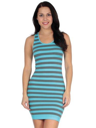 Women's Striped Summer Mini Tank Dress