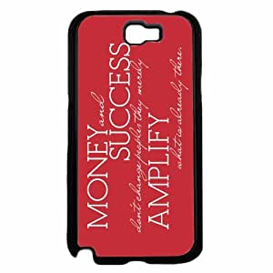 Money and Success Plastic Phone Case Back Cover Samsung Galaxy Note II 2 N7100