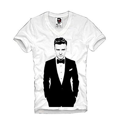 E1syndicate V-neck T-shirt Justin Timberlake Concert Tour Eleven S-xl