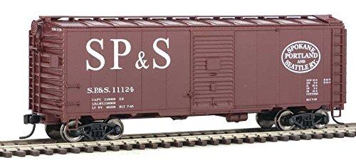 40' AAR 1944 Boxcar - Ready to Run -- Spokane, Portland & Seattle #11124 (Boxcar Red; Straight SP&S, Football (Seattle Boxcar)
