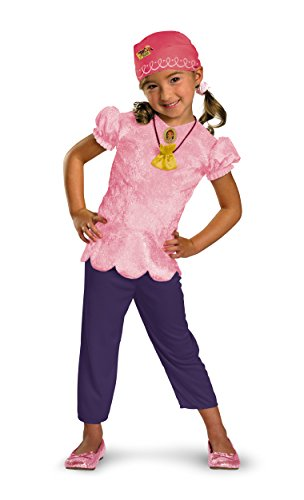 Disney Jake And The Neverland Pirates Izzy Classic Costume, Pink/Purple, Child size Large -
